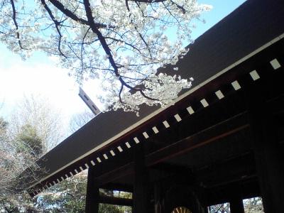 靖国神社にて
