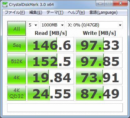 CrystalDiskMark3.0 1000MB Vertex2 50GB