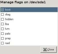 Flagsにbootを付加