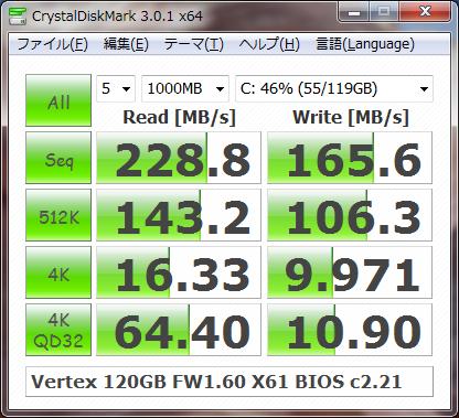 CrystalDiskMark SATAII 3.0Gbps