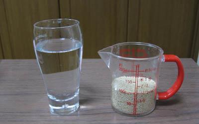 あわ1/2カップと水120ml