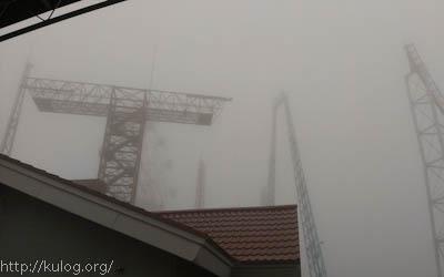 雨の中の仙台ハイランド