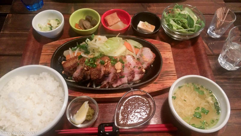 OYAJIトンテキ 豚バラ定食