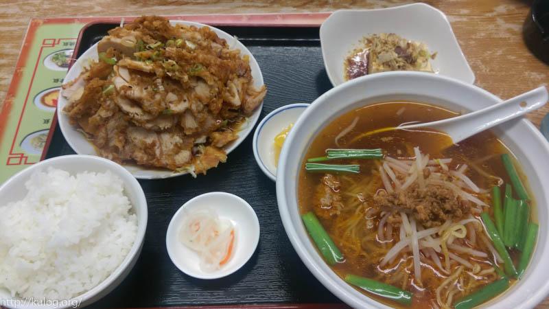 油淋鶏ランチ100円増し