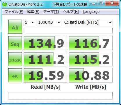 AHCIモード Win7標準ドライバ6.1.7000.0