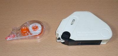 最近の修正テープと世界初の修正テープ