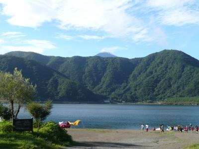 富士山がちょっとみえる