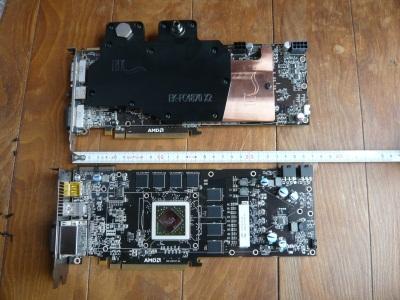 HD4870X2とHD5870の基板比較