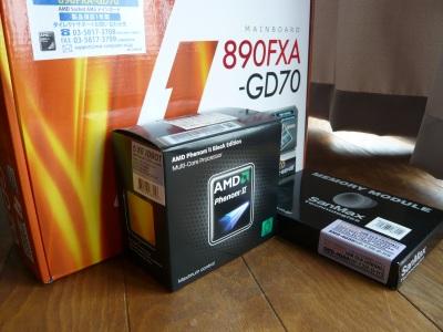 Phenom II X6 1090Tと890FXA-GD70とSMD-4G88