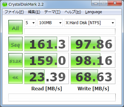 CrystalDiskMark Vertex2 50GB