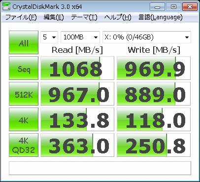 CrystalDiskMark 100MB Writeback