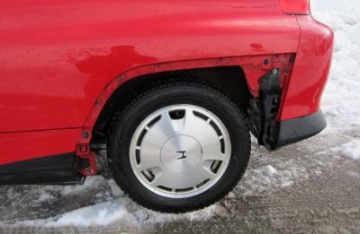 タイヤカバーがない!