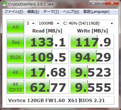CrystalDiskMark SATA 1.5Gbps