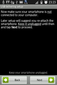 USBケーブルを外す