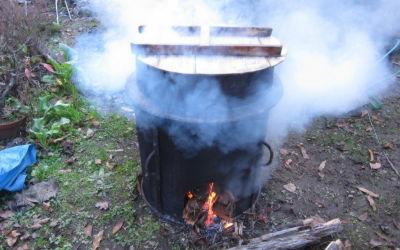 大豆を煮ます