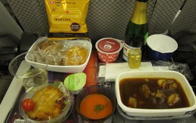 機内食がうまい